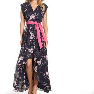 NWT Eliza J High/Low Floral Faux Wrap Maxi Dress 4